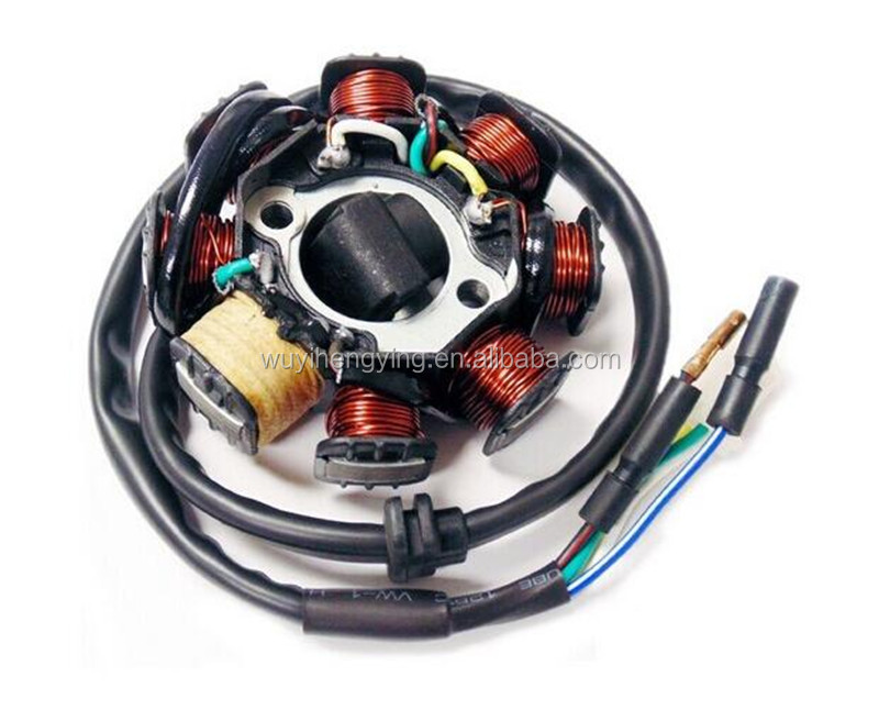high quality GY6 125CC 150CC scooter Magneto Stator coil 8 poles for QMI152 / 157 QMJ152 / 157 engine