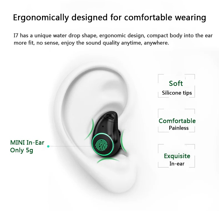 Built-in Microphone Sports Wireless Sweatproof Earphone for Running Gift Box