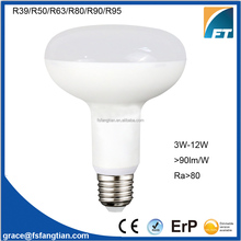 Alibaba gold supplier R80 R90 E27 9W12W LED Light Bulb Dimmable