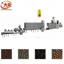 Hot continuous automatic aquaculture fish feed processing line