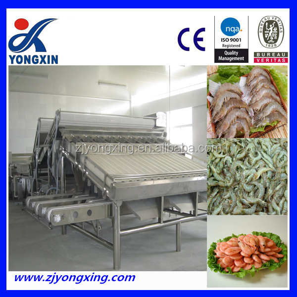 Fish Washing Grading Machine Shrimp Grader Prawn Sorter Shrimp Sorting Machine