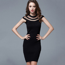 C70920A Cheap Wholesale crew neck long sleeve Pleated swing dresses for women