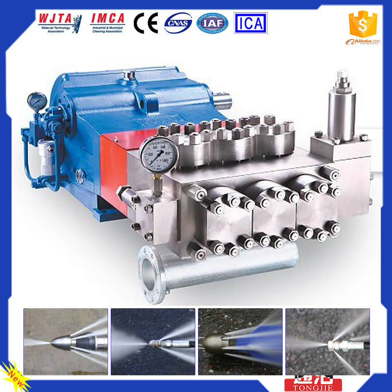 2016 Most Popular Industrial 20000PSI Removing Grease Deposits in refineries Hydro Water Pump High Pressure