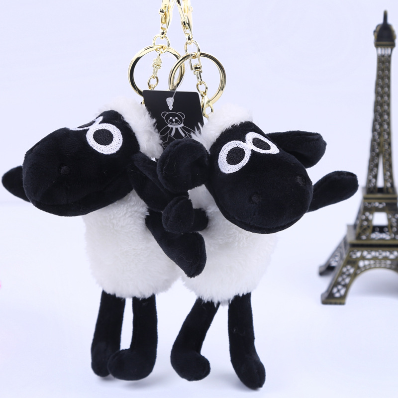 cute plush sheep keychain wholesale