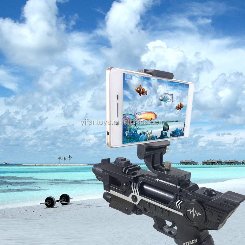 AR Game Gun,Mixed Reality VR Virtual Reality Connected Via Bluetooth with 3D AR Games for Cell Phone