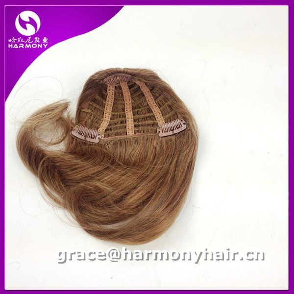FREE STYLE remy clip in hair extension bangs/indian remy hair clips in bangs/remy hair clip on bangs