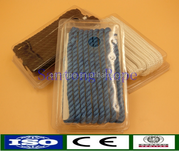 8mm Polyester braided dock line packed in clamshell