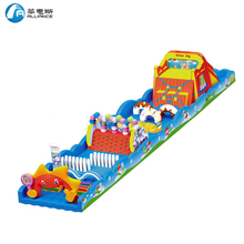 42m long outdoor giant inflatable obstacle course