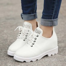 SAA6089 Women shoes fashion 2015 new design british style rhinestone fancy lace up ladies shoes wholesale