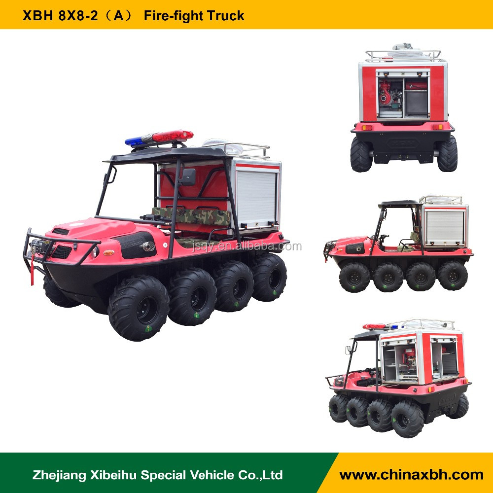 XBH 8X8-2 Fire-fight Truck All-Terrain amphibious Vehicle Forest fire fighting 800cc 8 wheels ATV