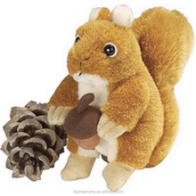 Best sale customized cute squirrel with deal apple soft toy for kids