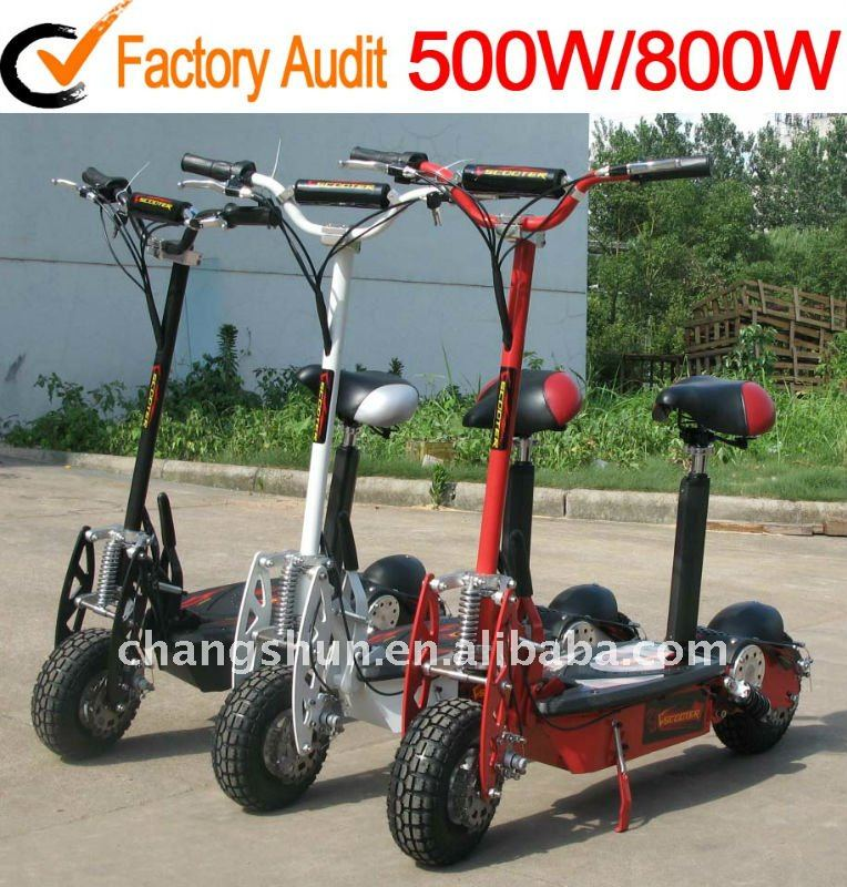 New suspension designed 1000W foldable electric scooters with offroad tyre and <strong>CE</strong> approved, CS-E8002