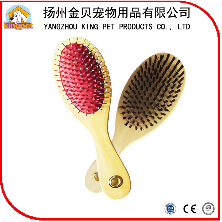 Factory wooden handle deshedding dog brush as seen on tv pet brush