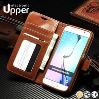 Hot selling Factory produced vertical flip leather case for samsung galaxy s4 cover