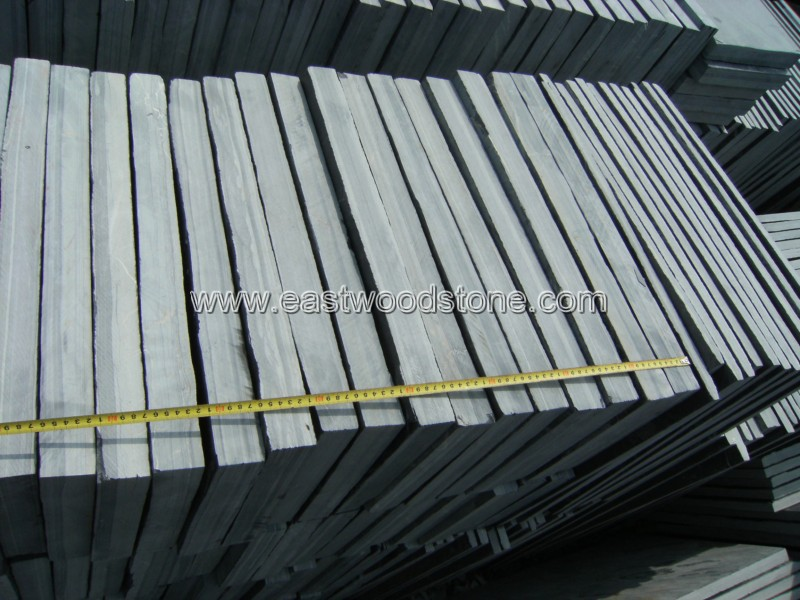 Black slate paving tile