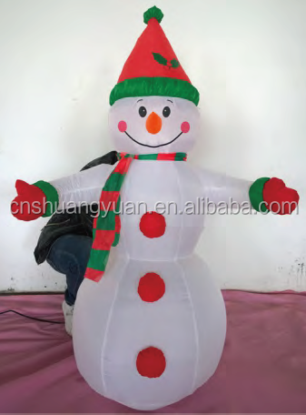2015 Inflatable Christmas Snowman for Outdoor Decorations
