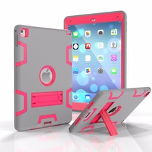 3 in 1 Protective Shockproof Kickstand Case For iPad Air 2 Kids Case