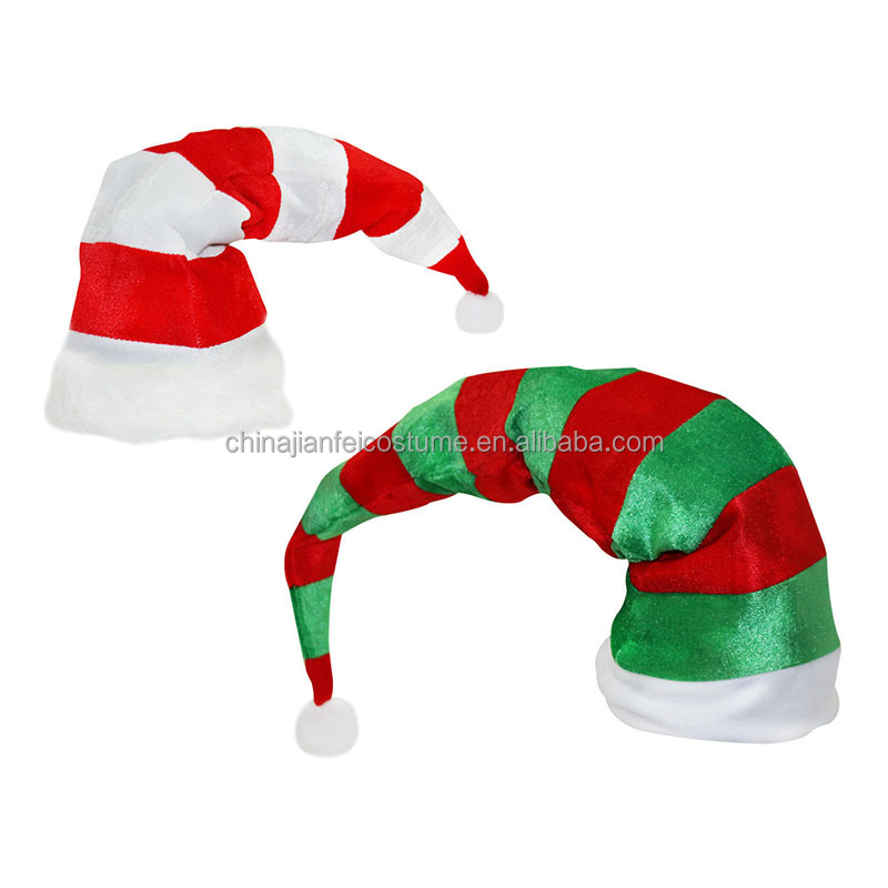 Large Over-Sized Christmas Xmas Novelty Santa Elf Stripy Hats