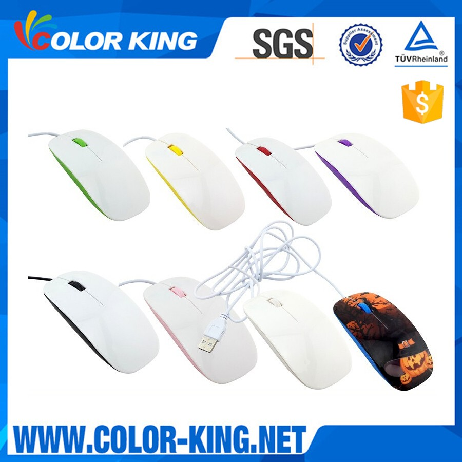 Wholesale Any Logo Can Heat Transfer Printed USB Wired Mouse,Personalized DIY Wireless Mouse