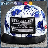 New arrival custom design pu snapback hat for wholesale