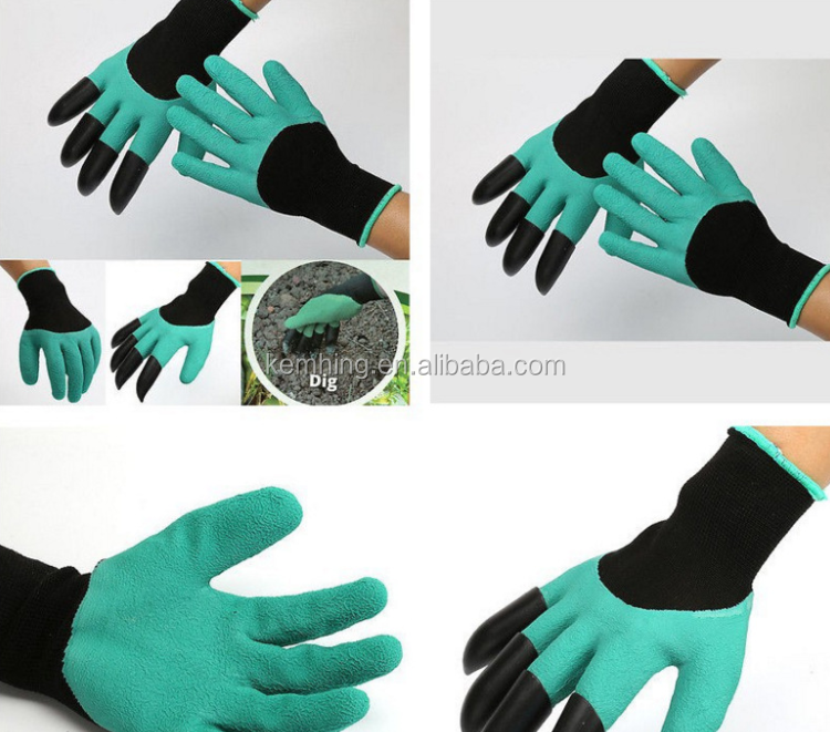 Waterproof Digging and Planting safety work glove gardening Gloves devil claw gloves