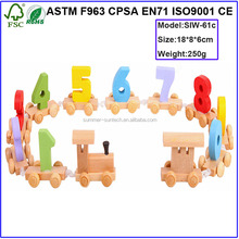 Wooden Toy Wooden Train Letters and number