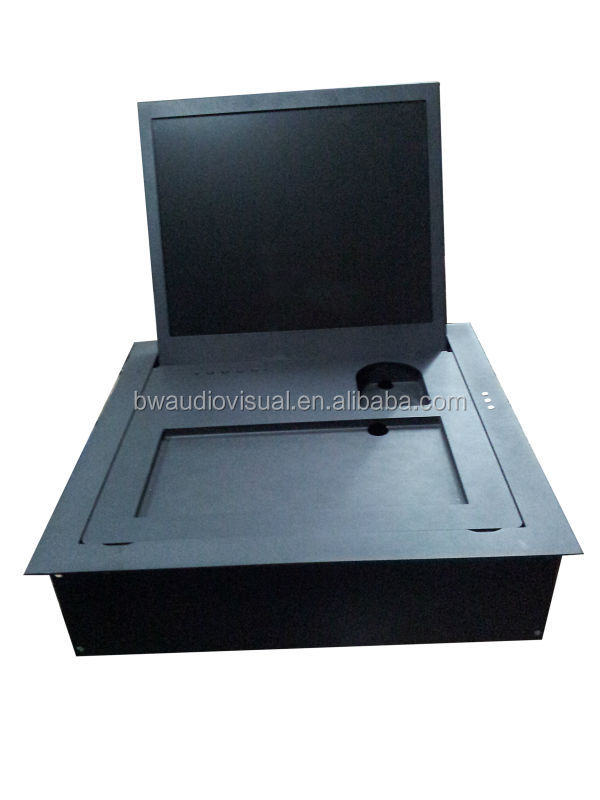 Remote Controlled Flip Up Lift Up Mechanism For LCD Monitor Screen In Office Furniture System