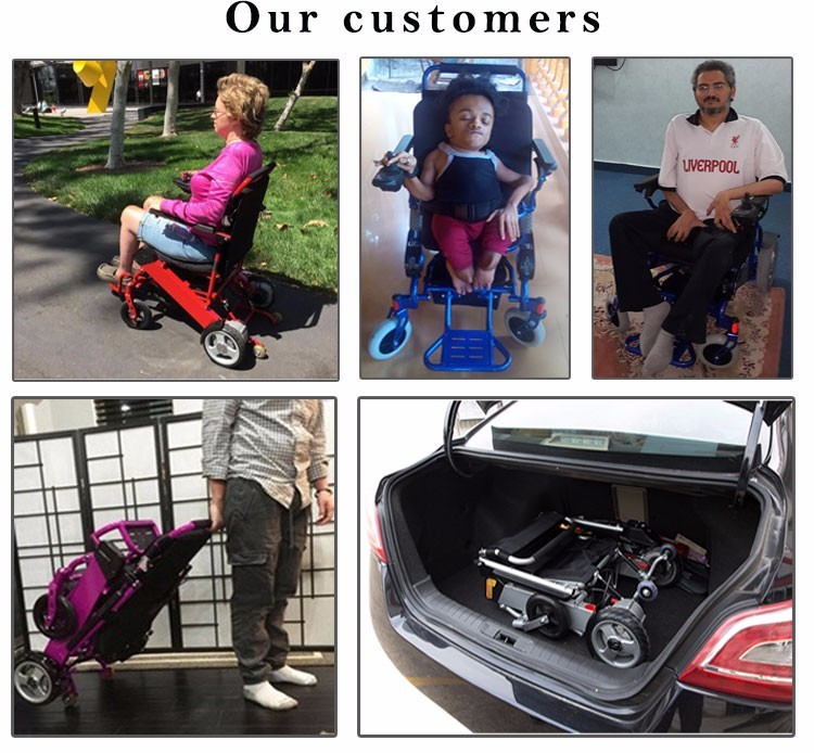 Heavy Duty handicapped lying down and standing up electric wheelchair