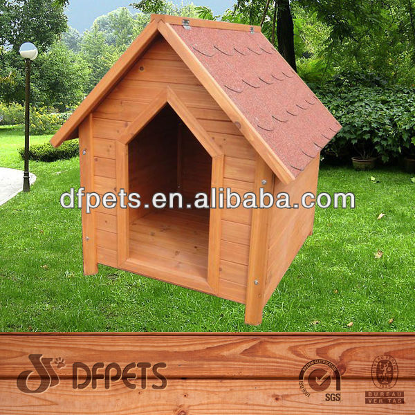 Outdoor Wooden Dog Kennel With Bitumen Roof Dog Kennel DFD3017