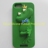 beautiful animal shape silicone phone case with personalized pack