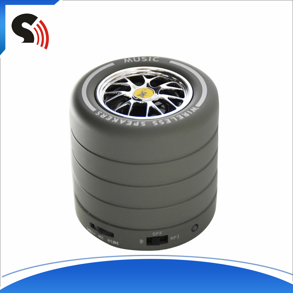 2016 Tire Shape Waterproof Blutooth Speaker Music Angel Sound Box Design For Mobile