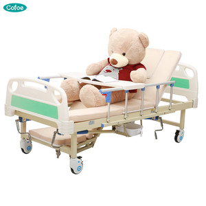 Household medical multi function adjustable and removable hospital bed