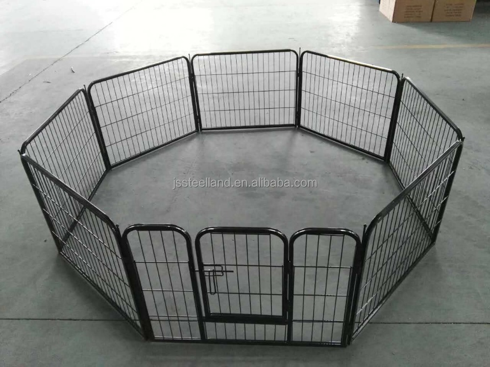 black powder coated pet puppy playpen heavey duty 61*77CM 8 panels