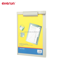 A4 size plastic writing clipboard with side holder
