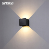 Adjustable up and down outdoor wall lamp surface mounted led deck lamp