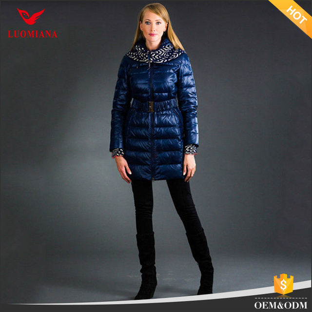 Down clothing factory Ladies overcoat and jacket manufacture Long down woman coat