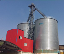 Steel grain silo with reliable protection