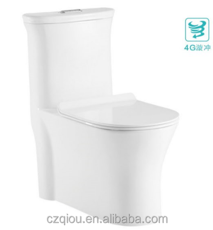 Hot sale 4G super swirling One Piece S-trap ceramic toilet TO2938