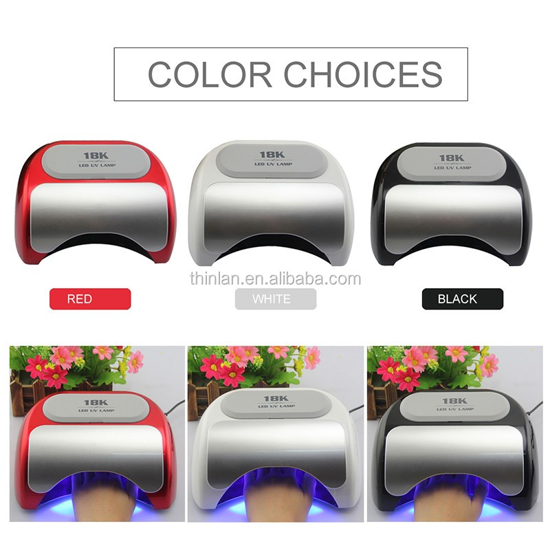 Brand New Thinlan Hot and factory price 18k 18W 36w 48w uv led nail lamp for nails