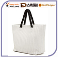 White Fashion Lastest Weave PU Ladies Handbags