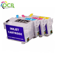 OCBESTJET Refillable Ink Cartridges T200 For Epson Expression Home Xp 200 300 400 With Permanent Chip