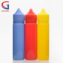 PET 60ml colorful smoke oil e liquid bottle with childproof cap