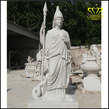 Outdoor home & garden decor stone carved New product Lifelike life size marble man figure soldier statue