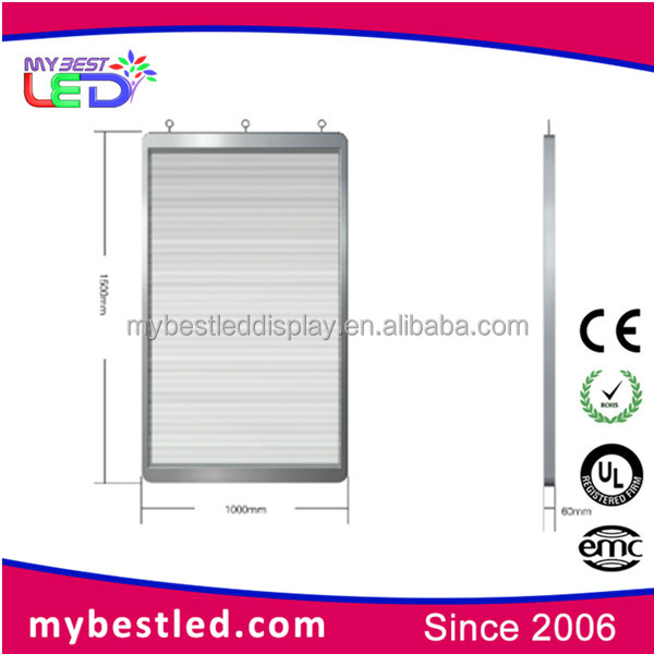 Y3V7 Glass Windows Led Display Screen / Transparent Media Led panel Display