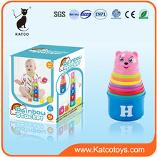 Colorful Educational Baby Funny Stacking Toys Plastic Stacking Cup