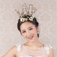 mini three colors plastic flowercrown tiara for bride