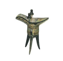 50Pcs Vintage Chinese Bronze Status Tripod Wine Cup
