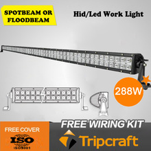 New 288w led light bar off road 3w epistar light bar 4x4 off-road accessories