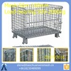 Wholesale high quality folding storage cage with wheels / steel storage cages