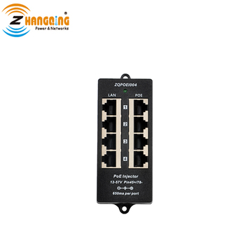 4 Port 10/100 Mbps Passive PoE Injector  Patch Panel Used with Any Switch Power up to 4 IP camera/CCTV Webcam